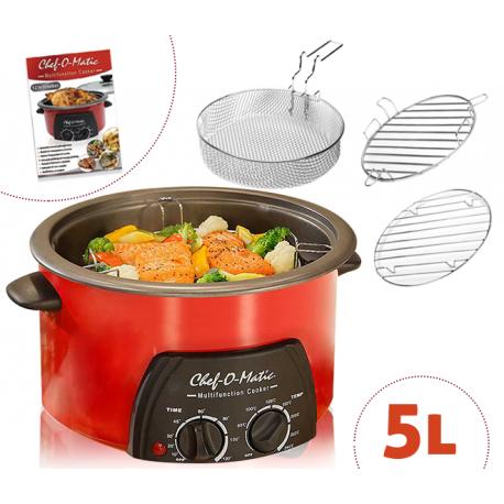 Chef o 39 matic 5l robot da cucina multifunzione 12 fuzioni in 1 5l - Robot per cucinare e cuocere ...